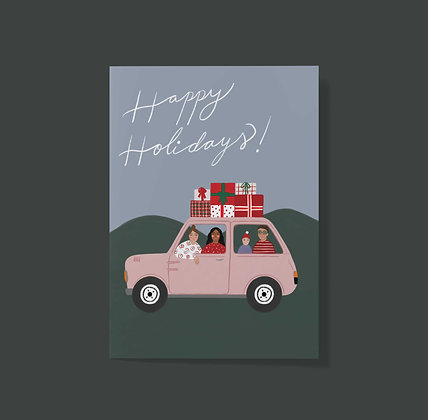 Happy Holiday's Road trip - Greeting Card