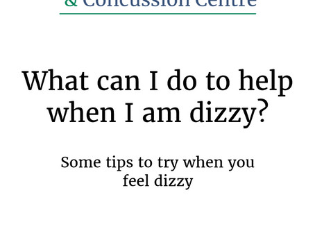 What can you do when you become dizzy?