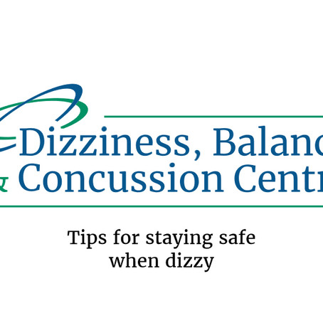 Tips for staying safe when dizzy