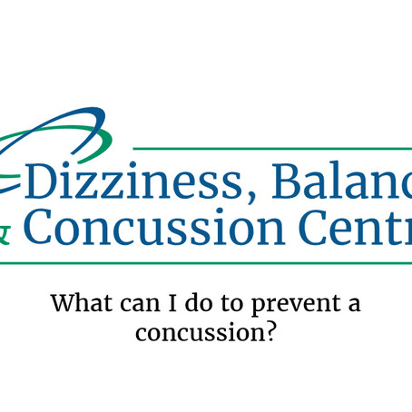 What can I do to prevent a concussion?