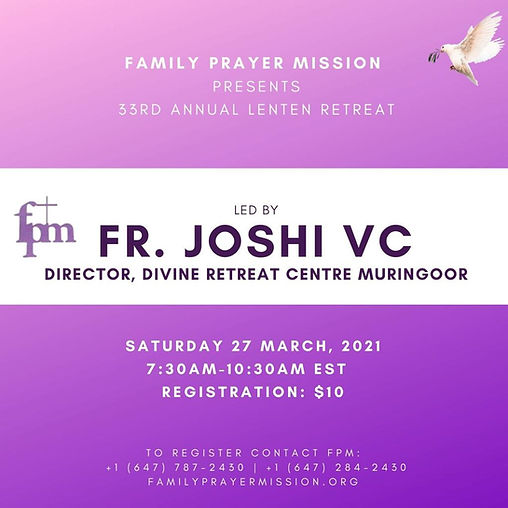 33rd Annual FPM Lenten Retreat Flyer.jpe