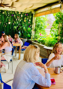 Barney's patio is a relaxing convivial place to dine