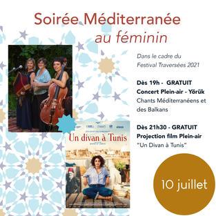 Soirée Méditerranée - Concert et Projection plein-air