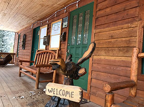 Welcome Moose at Boulder Creek Lodge, Philipsburg, Montana, Southwest Montana