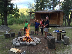 Glamping, Family Friendly, Cabin, Campfires and Smiles