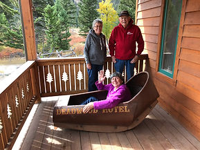 Family Fun, 1880's Bathtub on Porch of Main Lodge