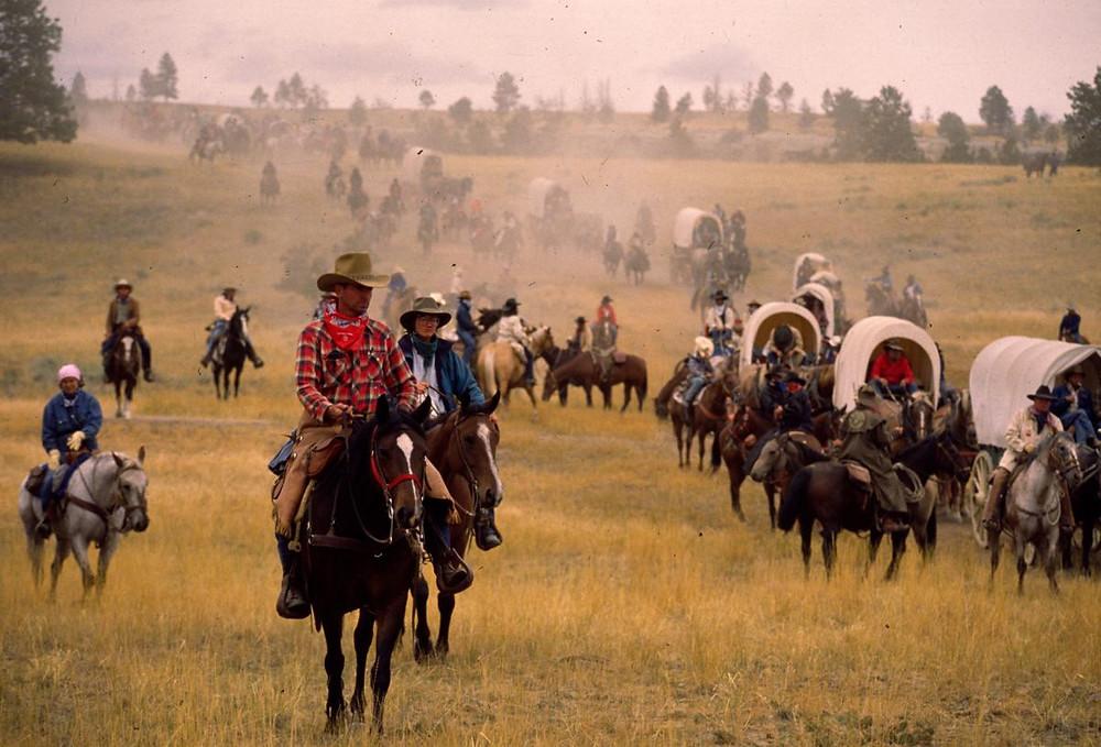 Epic Cattle Drive of Montana Centennial Cattle Drive 1989