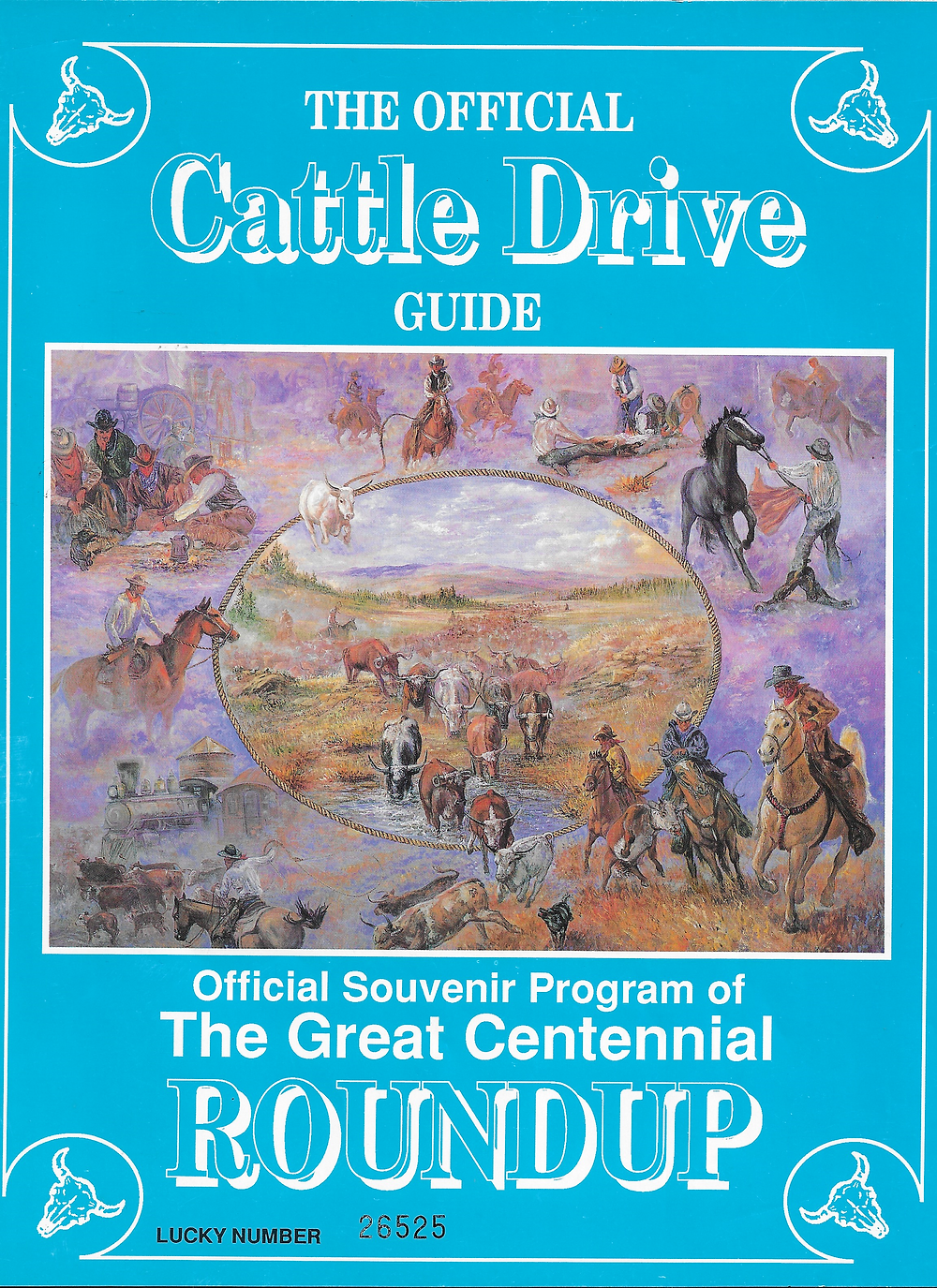 Souvenir of The Great Montana Centennial Cattle Drive of 1989