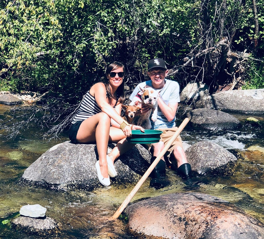 Gold Panning in the Boulder Creek at Boulder Creek Lodge