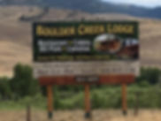 Boulder Creek Lodge Billboard, Philipsburg, Montana, Southwest Montana