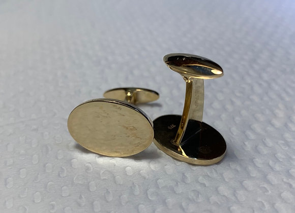 Gold Cuff-links Oval