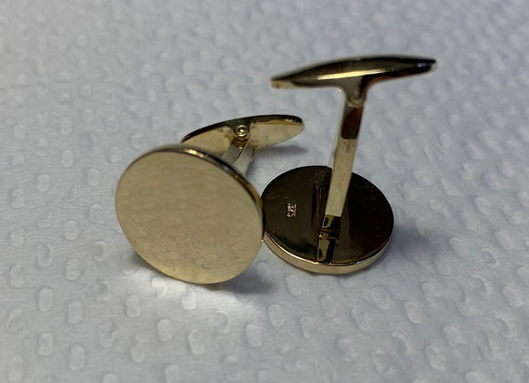 Gold Cuff-links Round
