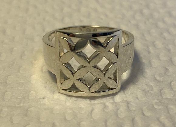 Repeating Frangipani Ring Small