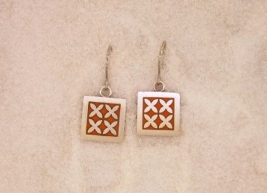 Repeating Frangipani Earrings