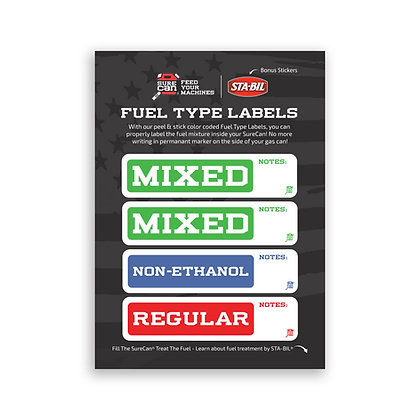 FUEL TYPE LABEL SHEET