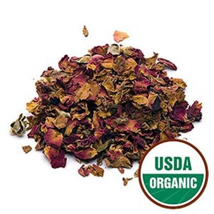 Red Rose Buds & Petals Organic