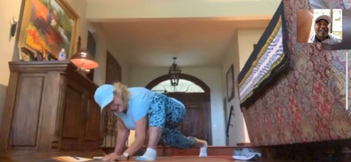 Virtual Workout  senior modification