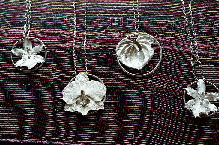 Griselda Peña Orchid Necklaces