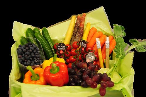 Snack & Dip-Präsentkiste (inkl. 2 Dips)