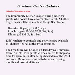 Damiano Center Updates