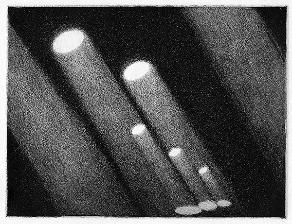 Light Rays, intaglio print