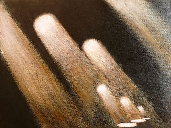 Beams of light, painting