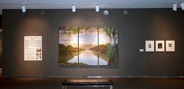 The Great River, mural by Juan Bernal, at the Hudson River Museum