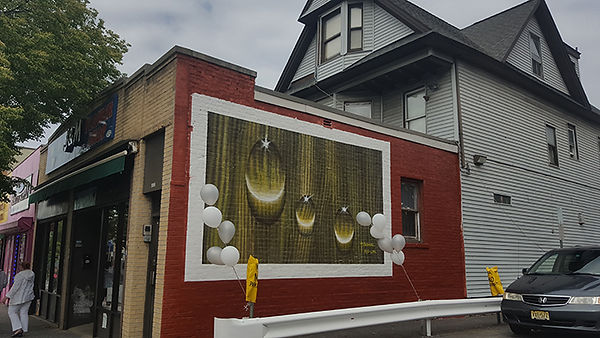 H2o = Water, public art mural, Yonkers, NY.