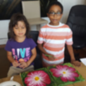 Children in art classes