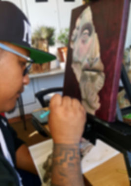 Adult in art class in Union City