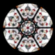 Roseton, vidriera emplomada por Juan Bernal