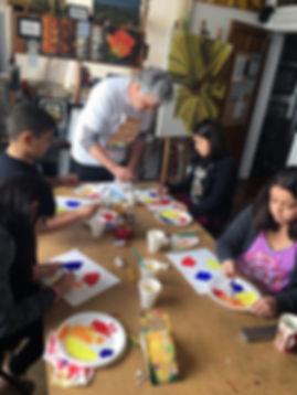 Color wheel in art classes for kids