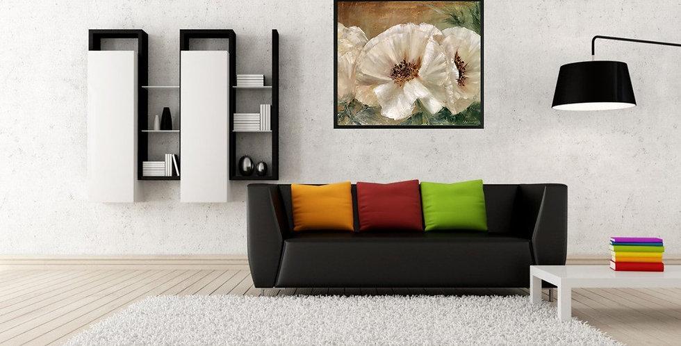 White Flowers Wall Art