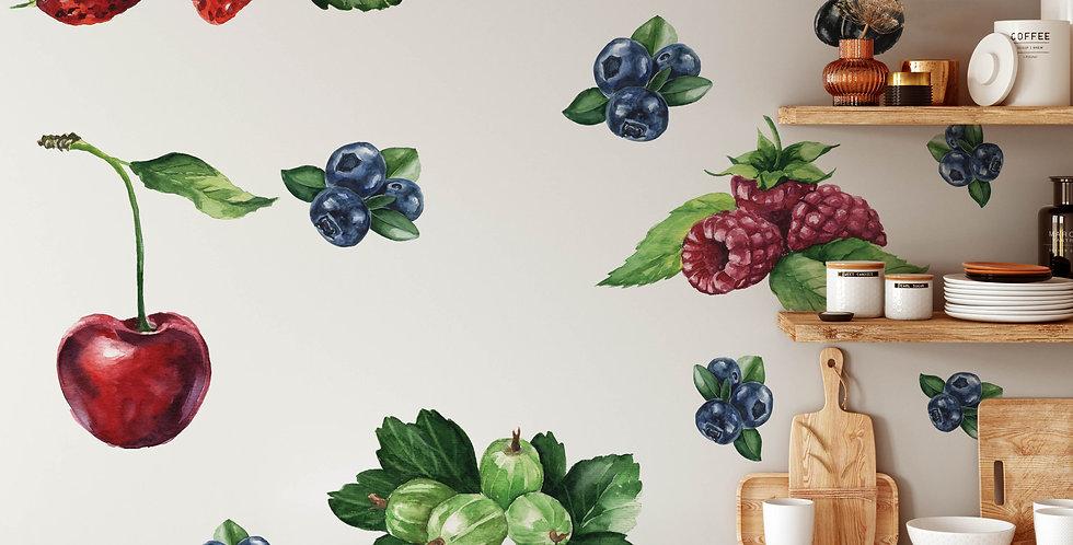 Juicy berries decals