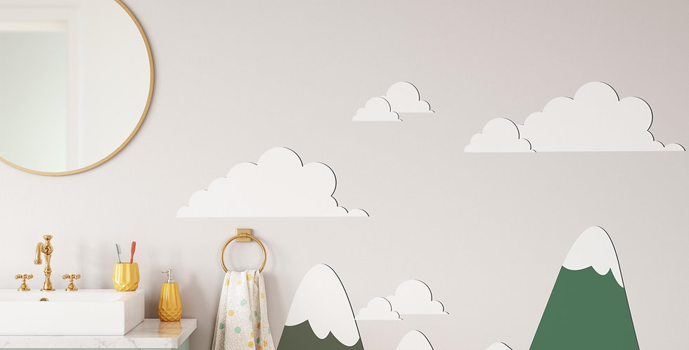 Mountains decals