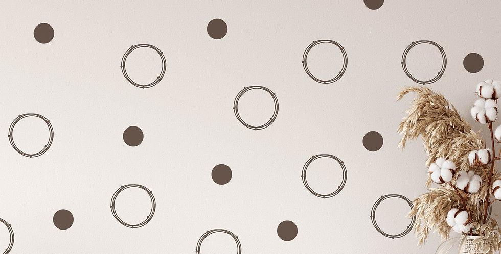 Circle wall decals kit