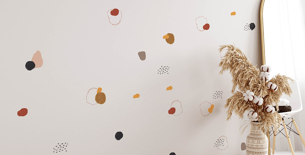 Colorful Spots dot wall decals kit