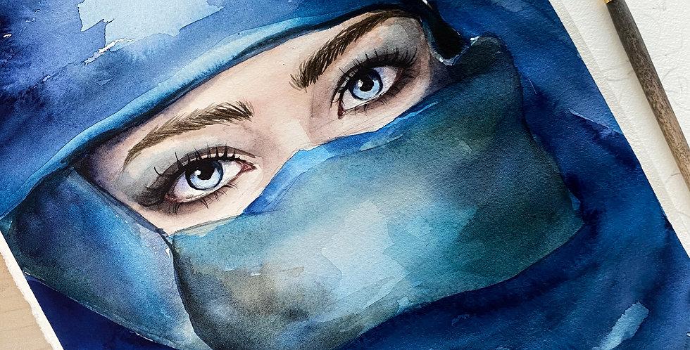 blue eyes wall art