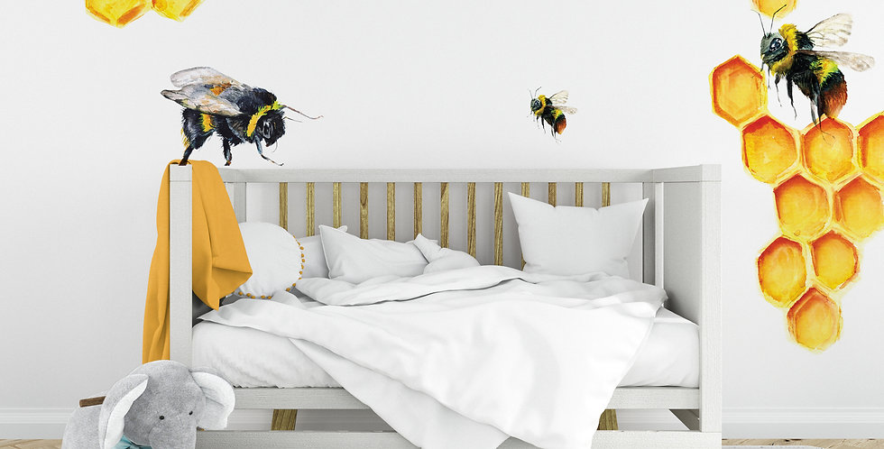 Honey bees and honey combs Decals