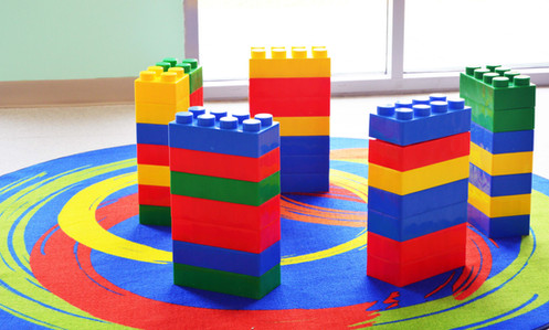 Jumbo Lego Building Blocks   Hire Giant Lego Block Building Station
