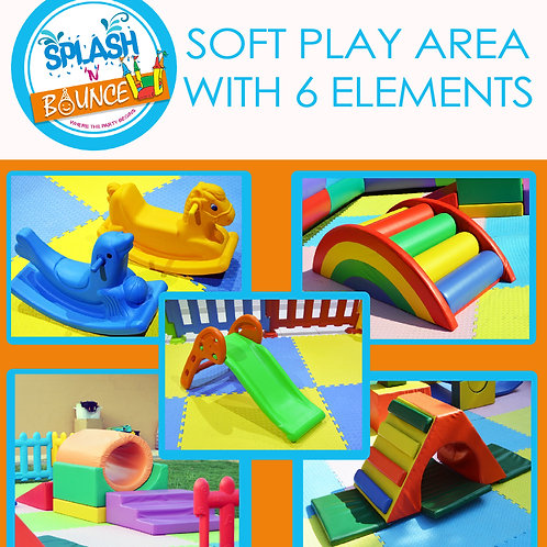 SOFT PLAY AREA WITH 6 ELEMENTS WITHOUT BALL POOL