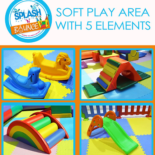 SOFT PLAY AREA WITH 5 ELEMENTS(WITHOUT BALL POOL)