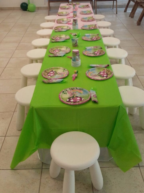 Tables and Stool set for 20 kids for ages 4yrs-8yrs and below