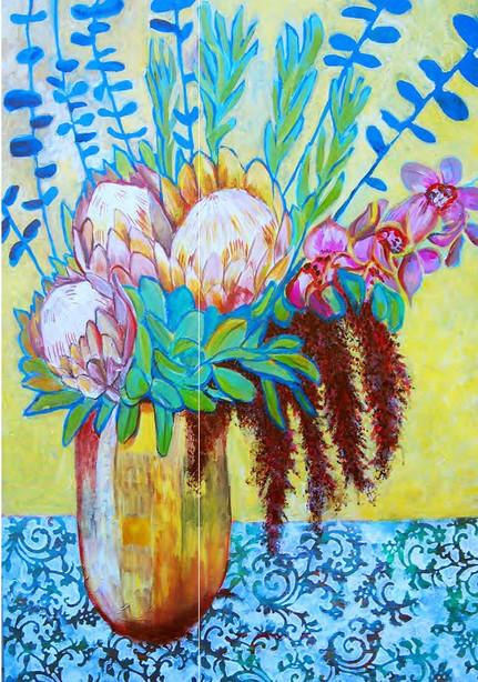 proteas in vase