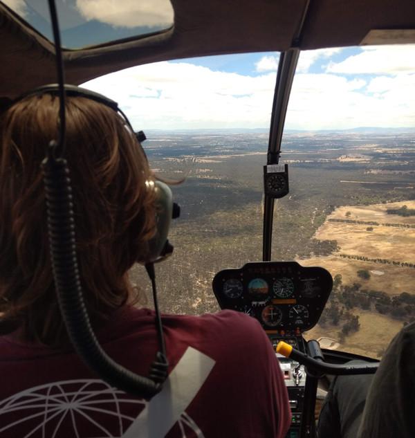 helicopter flight over grampians