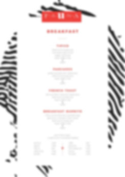 Fauna Luxury Hostel Breakfast Menu Design, Ethos By Design