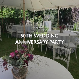 50th wedding anniversary party, styling by Friedrich Events.