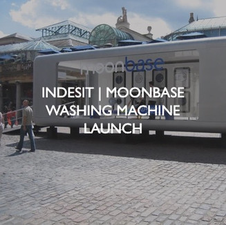 Product marketing for Indesit, Moonbase Washing Machine Launch event.