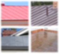 A variety of metal roofs