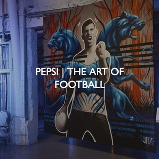 Product marketing for Pepsi, The Art of Football event.